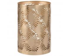 Bougeoir LED en métal doré