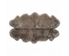 Tapis en peau de mouton beige 110x180