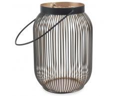 Lanterne en métal noir/doré H 19 cm PHAONA