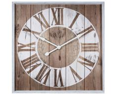 Horloge imprimé blanc 90x90cm VANOLA