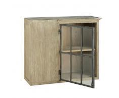 Meuble haut d'angle de cuisine ouverture gauche en bois recyclé gris L 97 cm Copenhague