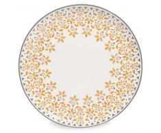 Assiette plate en faïence jaune moutarde D 27 cm GIPSY