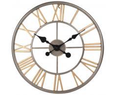 Horloge gousset en métal gris et doré