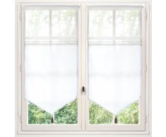 Rideau court en coton blanc 60 x 120 cm ELOISE