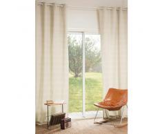 Rideau à œillets en coton beige 110 x 270 cm WALES