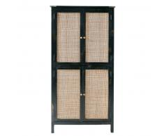Armoire 4 portes en manguier et acacia massifs Indies