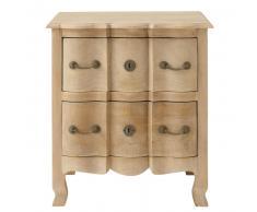 Table de chevet avec tiroirs en manguier L 54 cm Colette