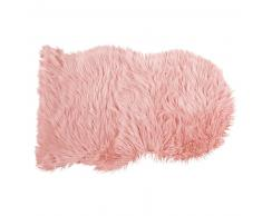 Tapis mouton en fausse fourrure rose 90x60 BLUSH