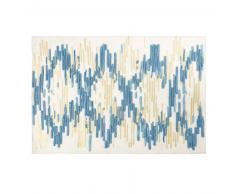 Tapis en laine et coton motifs à rayures 140x200