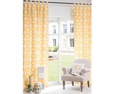 Rideau à œillets en coton jaune 105 x 250 cm BELEM