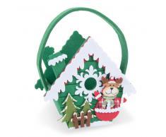 Sac de Noël en feutre vert 17 x 23 cm MAISON