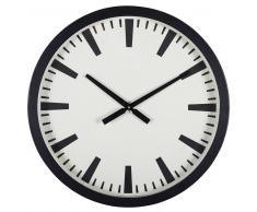 Horloge en métal noir mat NELSON