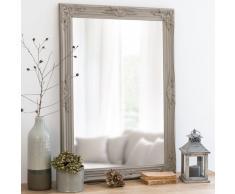 Miroir en paulownia beige 73x103