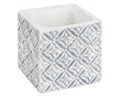 Cache-pot en ciment à motifs H10