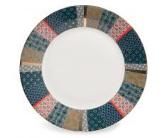 Assiette à dessert en porcelaine D 27 cm BOHO