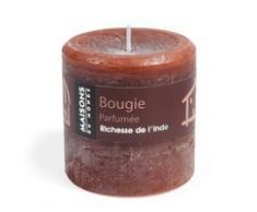 Bougie cylindrique chocolat 7x7