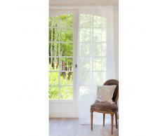 Rideau à nouettes en lin écru 105 x 300 cm