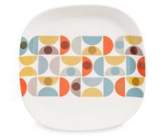 Assiette plate en faïence D 24 cm JEANNETTE