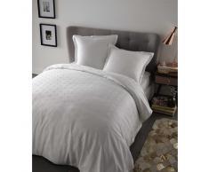 Parure de lit 220 x 240 cm en coton blanche CHLOÉ