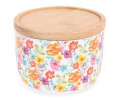 Pot en faïence motifs fleurs H 7 cm GARDEN PARTY