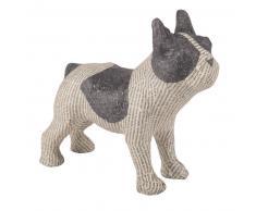 Statuette chien en papier mâché L21