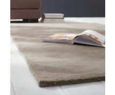 Tapis à poils courts en laine beige 200 x 200 cm SOFT