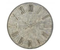 Horloge en métal gris effet vieilli D160