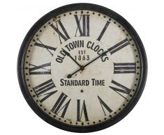 Horloge noire vieillie D.115cm JOHNSON