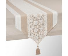 Chemin de table en coton beige L 150 cm WONDERFUL