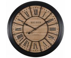 Horloge en métal noir D.100cm EDVIN