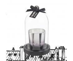 Bougie parfumée argentée sous cloche en verre Chantal Thomass