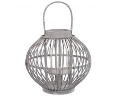 Lanterne en bambou gris