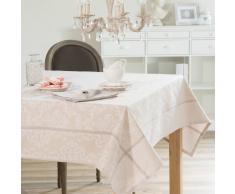 Nappe pailletée en tissu beige 150 x 250 cm PLESSY