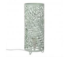 Lampe ajourée en métal vert d'eau
