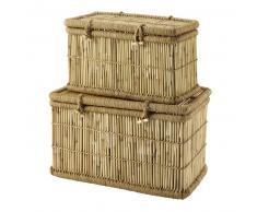 2 malles en bambou L 63 cm et L 72 cm TAMBUN
