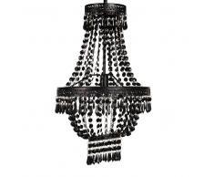 Lustre à pampilles en métal noir
