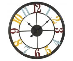 Horloge mutlicolore en métal