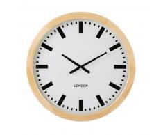 Horloge blanche en pin