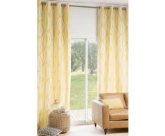 Rideau à œillets jaune/blanc 140 x 300 cm HYPNOSIS