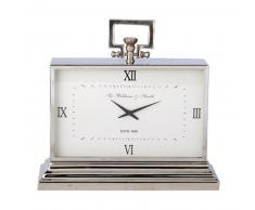 Horloge à poser en métal effet chromé KINGSTON