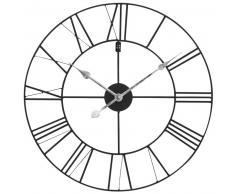Horloge en métal noir D 60 cm USINE