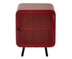 Table de chevet en métal rouge L 44 cm Knokke