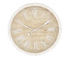 Horloge en sapin blanchi D97