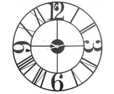 Horloge en métal noir D50