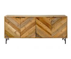 Buffet indus en pin recyclé Chevron