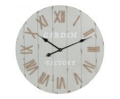 Horloge grise D 60 cm CAMPAGNE