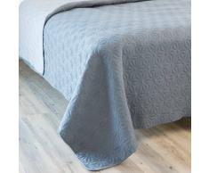 Couvre-lit en coton gris 180 x 240 cm STOCKHOLM