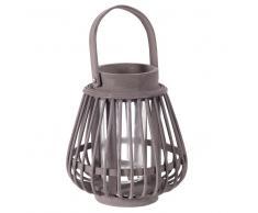 Photophore lanterne en bambou gris