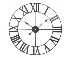 Horloge en métal noire D 60 cm MÉCANO