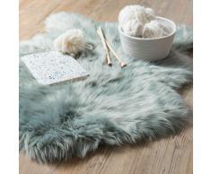 Tapis imitation fourrure bleu gris 60x90